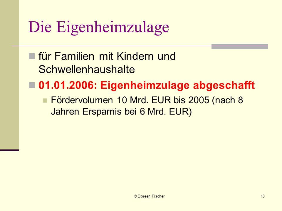 Die Eigenheimzulage für Familien mit Kindern und Schwellenhaushalte