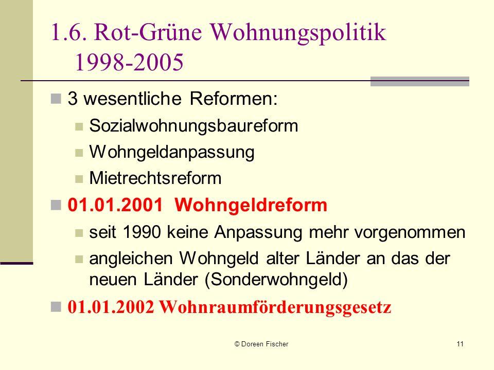 1.6. Rot-Grüne Wohnungspolitik 1998-2005