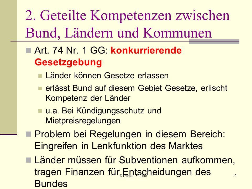 2. Geteilte Kompetenzen zwischen Bund, Ländern und Kommunen