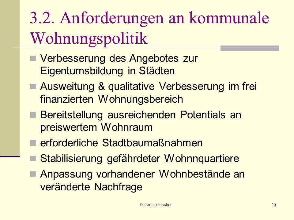 3.2. Anforderungen an kommunale Wohnungspolitik