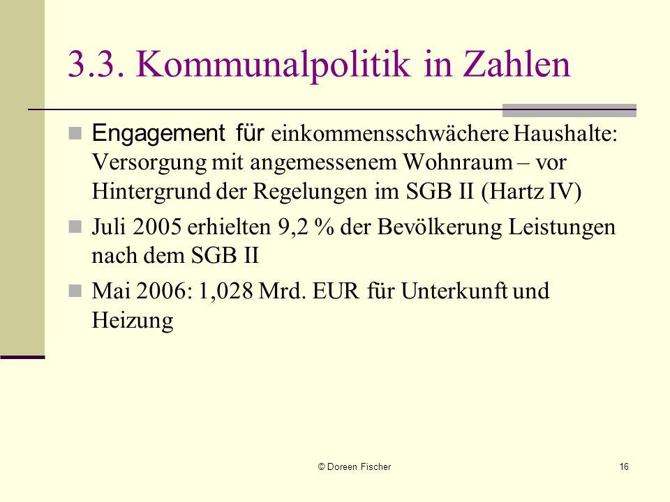 3.3. Kommunalpolitik in Zahlen