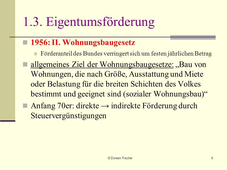1.3. Eigentumsförderung 1956: II. Wohnungsbaugesetz