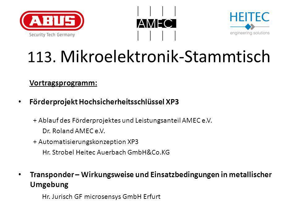 113. Mikroelektronik-Stammtisch