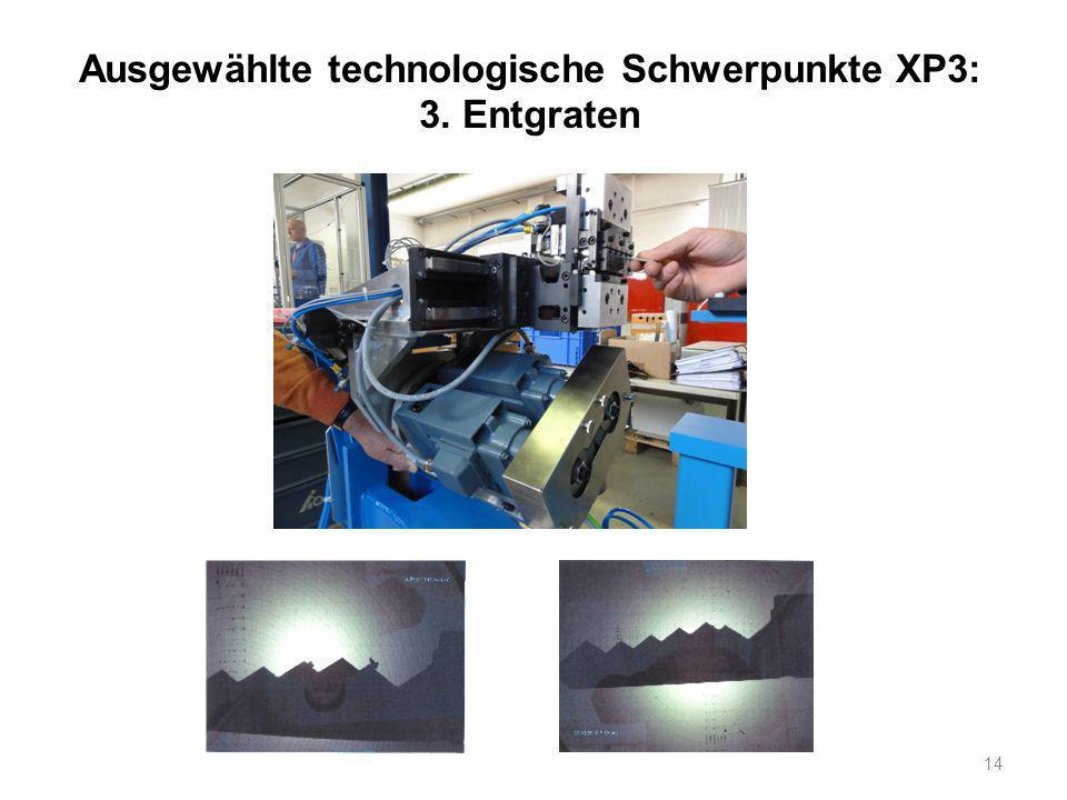 Ausgewählte technologische Schwerpunkte XP3: 3. Entgraten