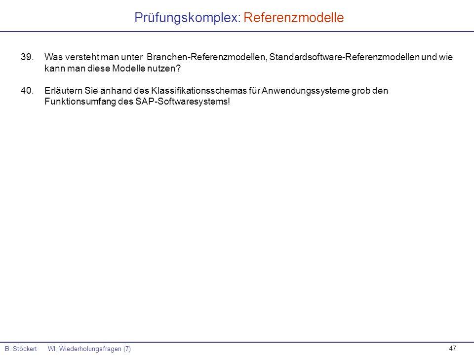 Prüfungskomplex: Referenzmodelle