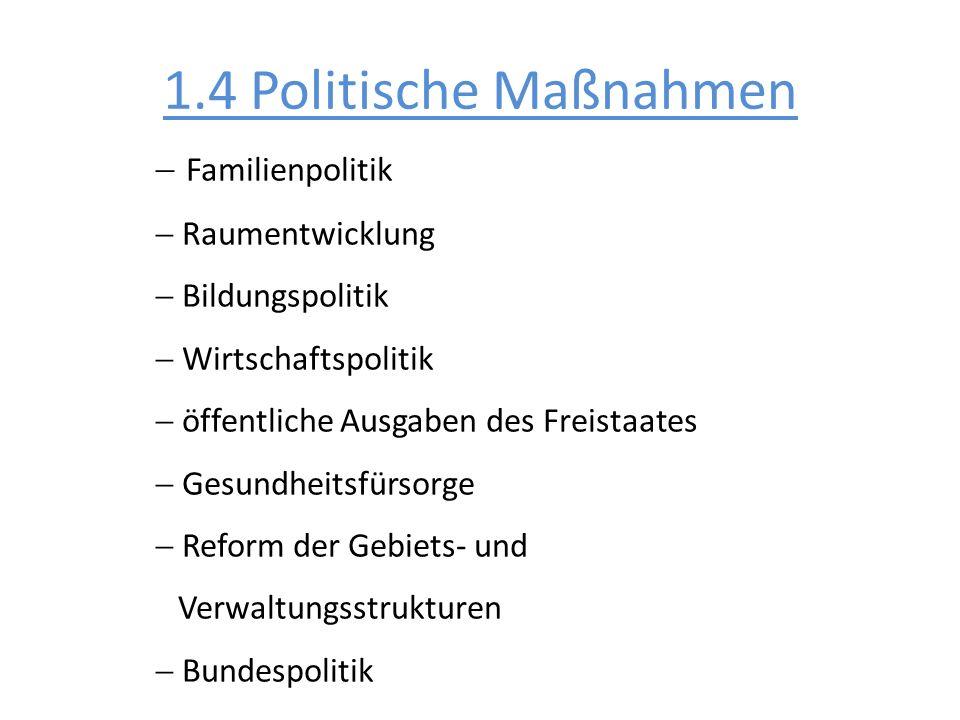 1.4 Politische Maßnahmen Familienpolitik Raumentwicklung