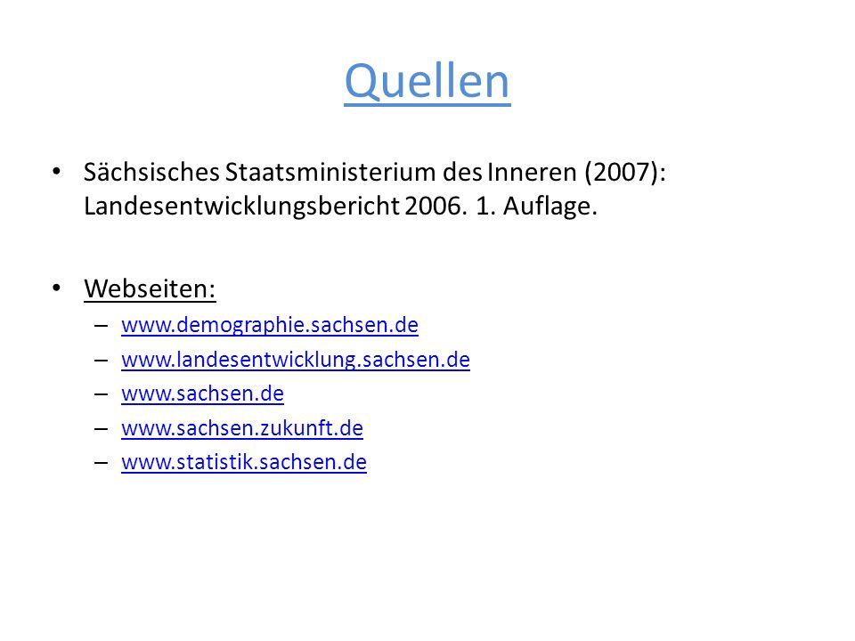 QuellenSächsisches Staatsministerium des Inneren (2007): Landesentwicklungsbericht 2006. 1. Auflage.