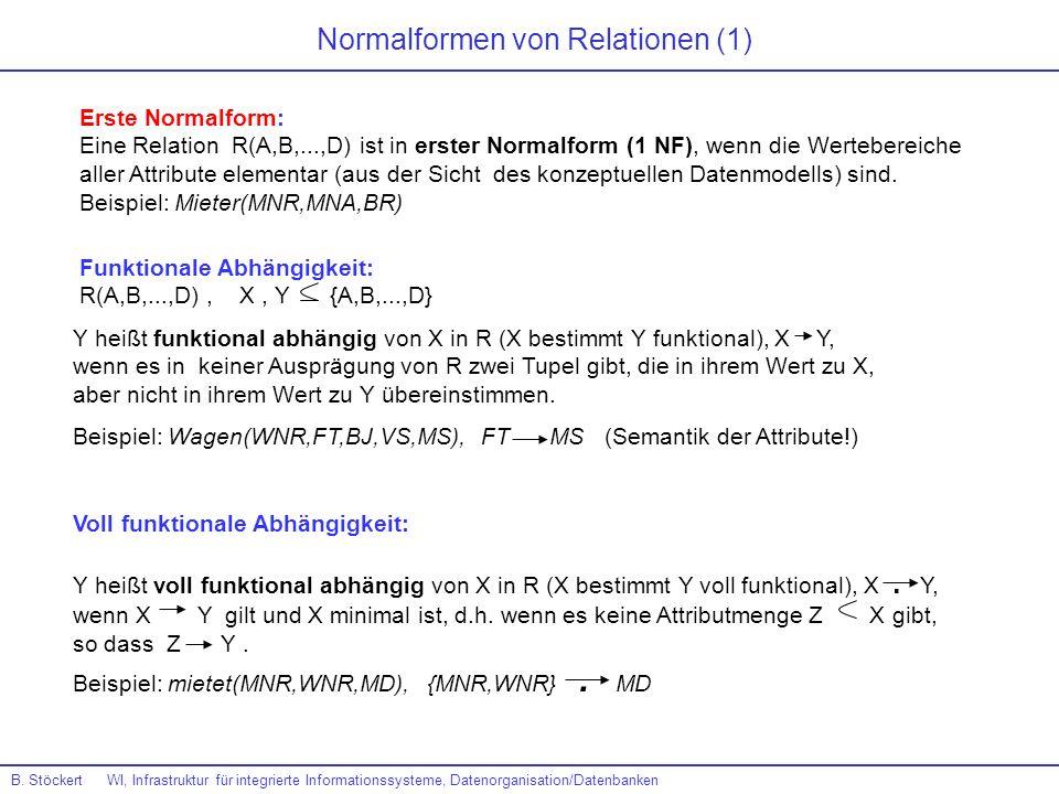 Normalformen von Relationen (1)