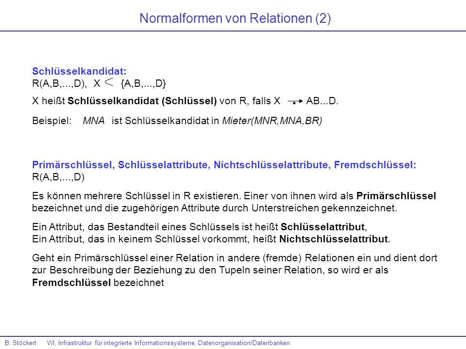 Normalformen von Relationen (2)
