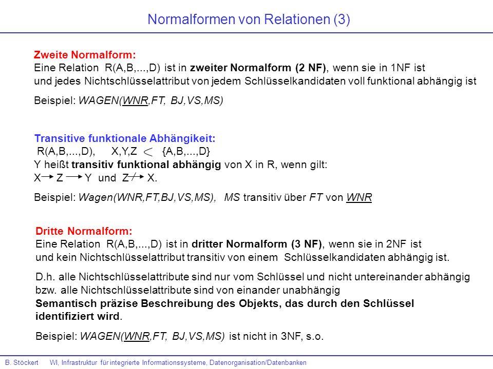 Normalformen von Relationen (3)