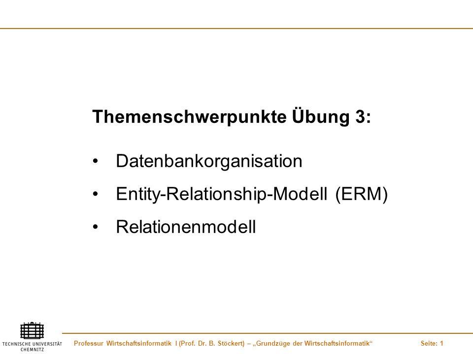 Themenschwerpunkte Übung 3: