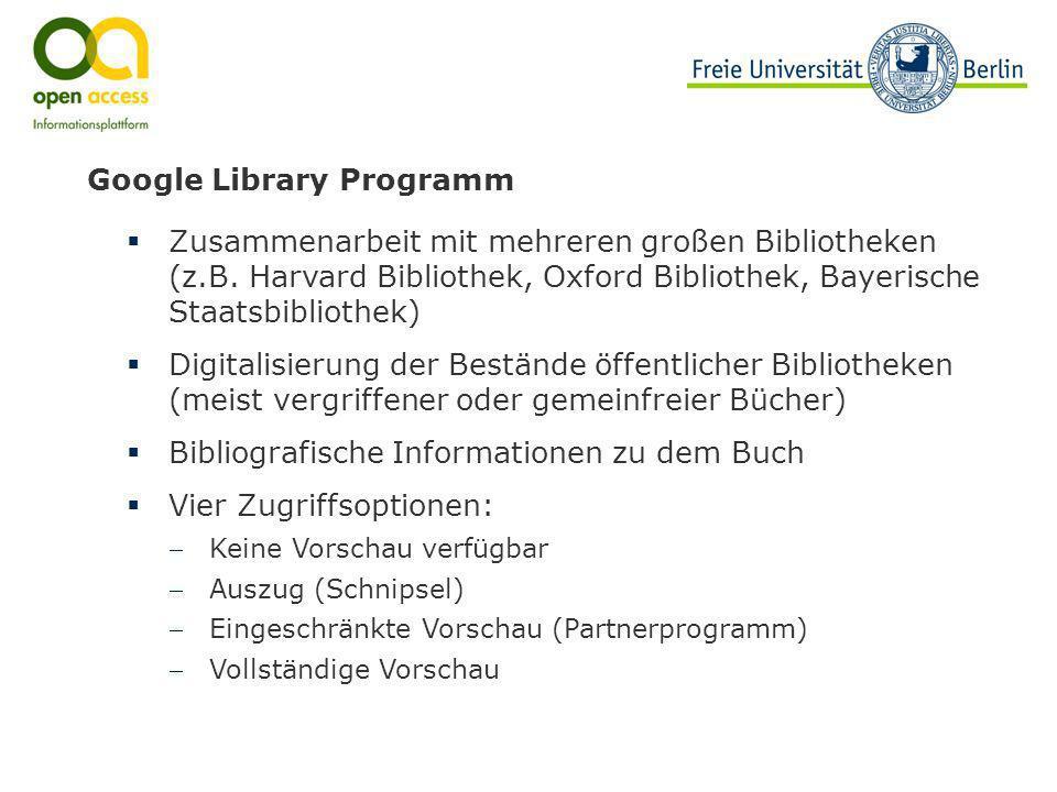 Google Library Programm