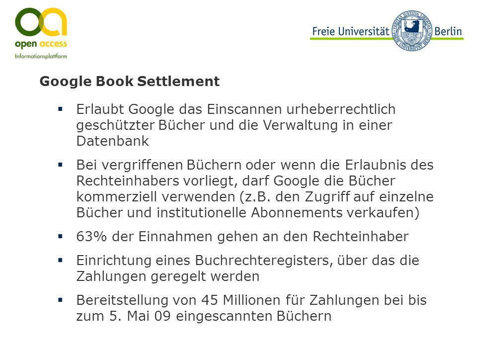 Google Book Settlement