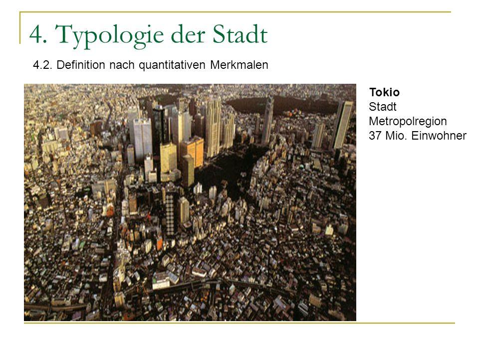 4. Typologie der Stadt 4.2. Definition nach quantitativen Merkmalen