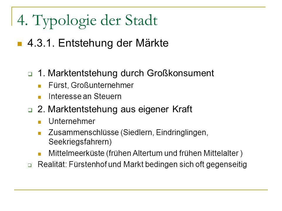 4. Typologie der Stadt 4.3.1. Entstehung der Märkte
