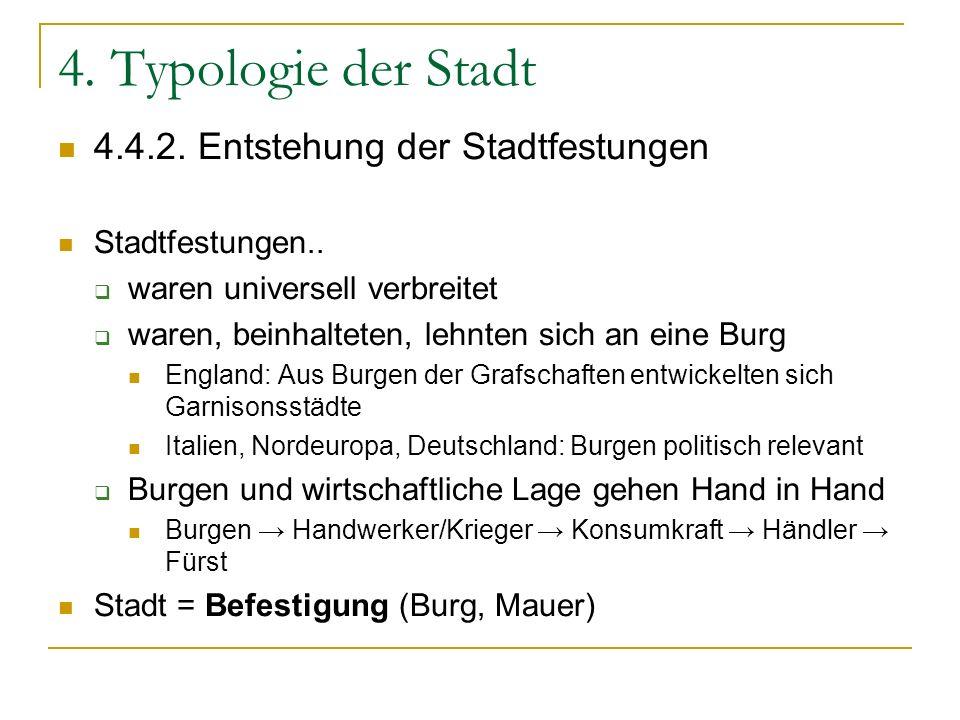 4. Typologie der Stadt 4.4.2. Entstehung der Stadtfestungen
