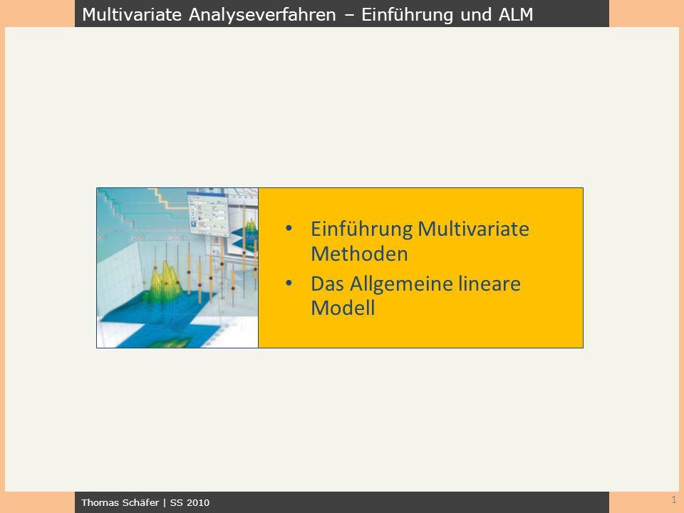 Einführung Multivariate Methoden