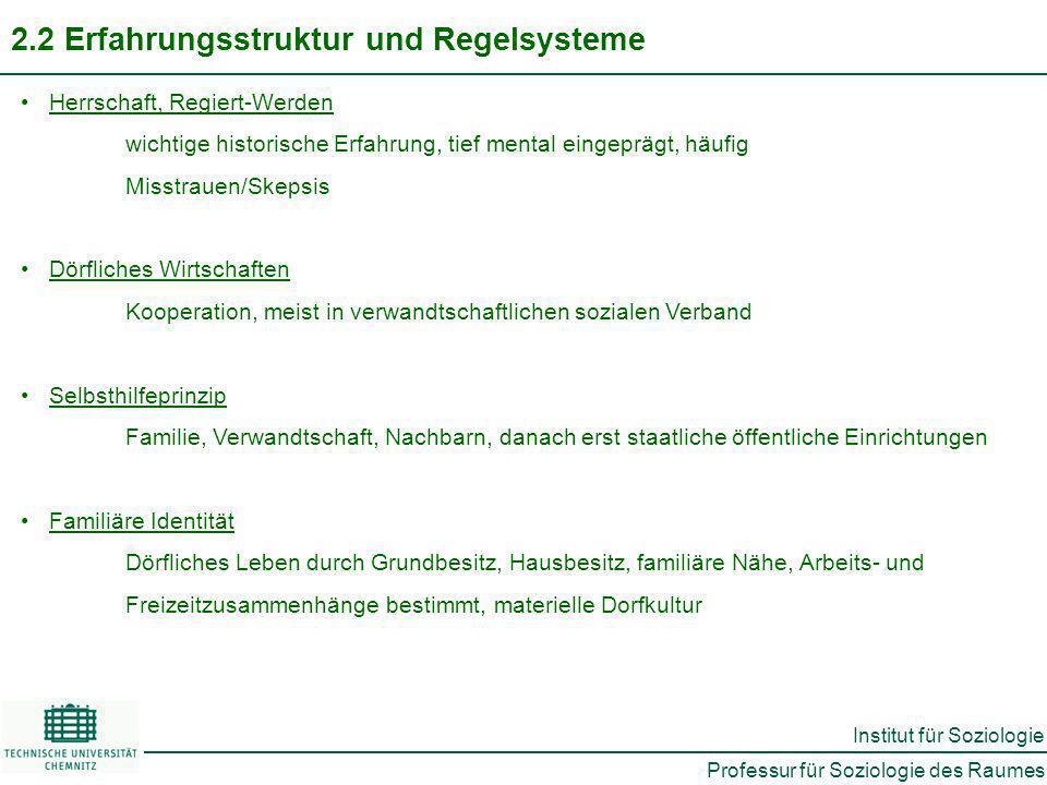 2.2 Erfahrungsstruktur und Regelsysteme