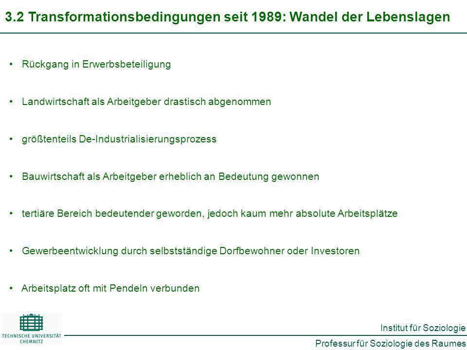 3.2 Transformationsbedingungen seit 1989: Wandel der Lebenslagen