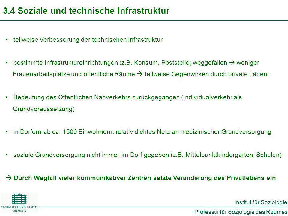 3.4 Soziale und technische Infrastruktur
