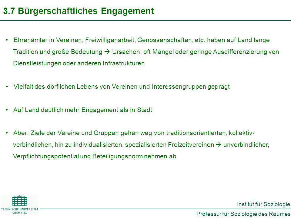 3.7 Bürgerschaftliches Engagement