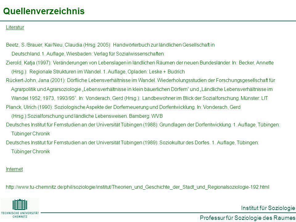 Quellenverzeichnis Literatur