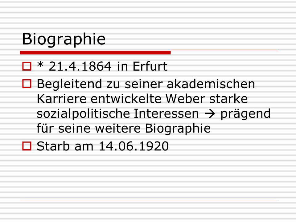 Biographie * in Erfurt.
