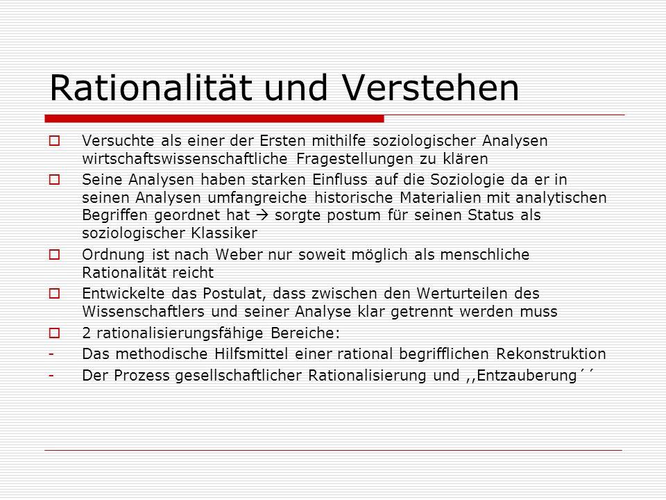 Rationalität und Verstehen