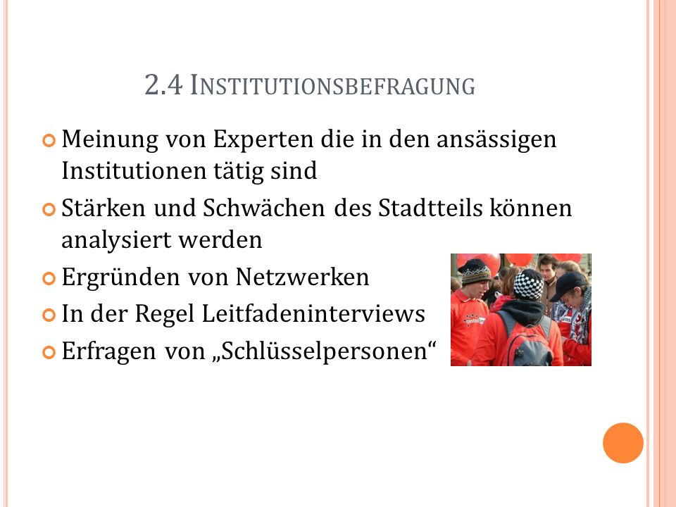 2.4 Institutionsbefragung