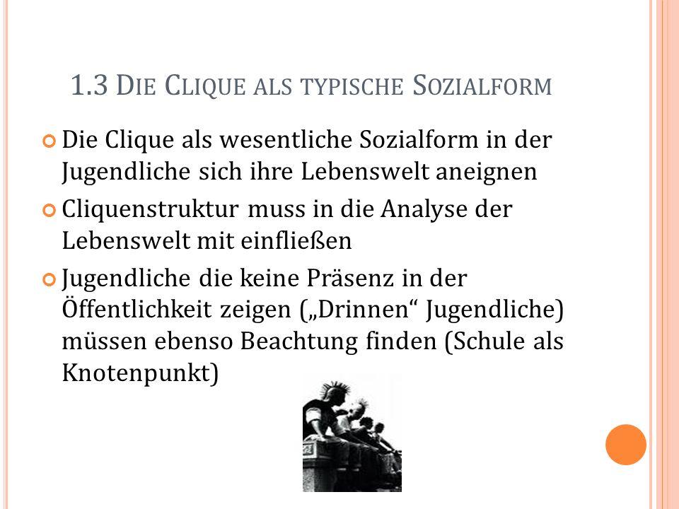1.3 Die Clique als typische Sozialform