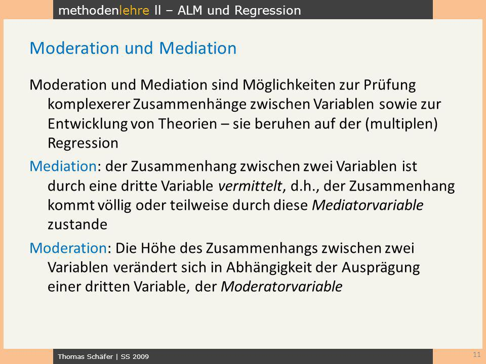 Moderation und Mediation