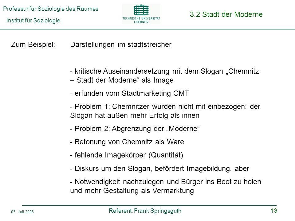 3.2 Stadt der Moderne Zum Beispiel: Darstellungen im stadtstreicher.