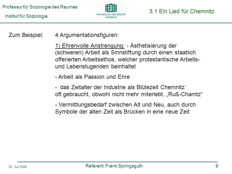 3.1 Ein Lied für Chemnitz Zum Beispiel: 4 Argumentationsfiguren: