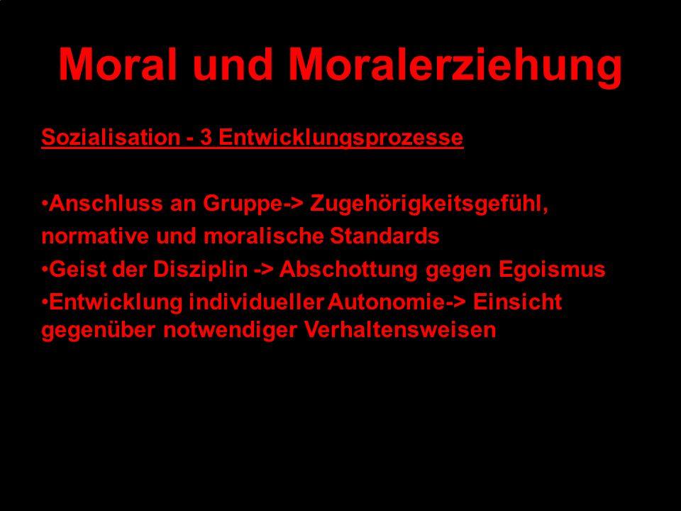 Moral und Moralerziehung