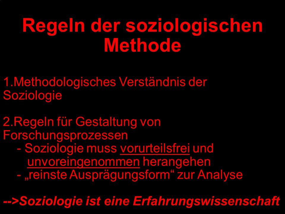 Regeln der soziologischen Methode
