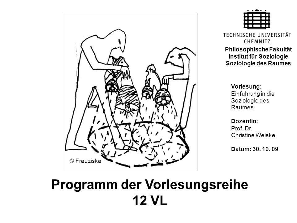 Institut für Soziologie Programm der Vorlesungsreihe