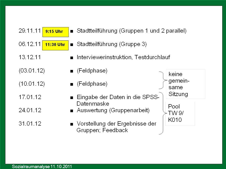 Sozialraumanalyse 11.10.2011