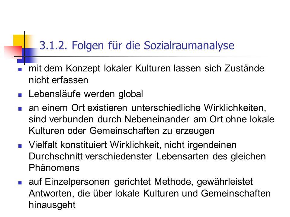 3.1.2. Folgen für die Sozialraumanalyse