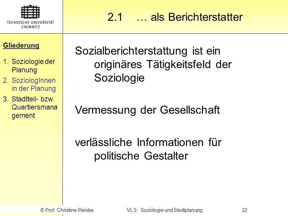 Gliederung 2.1 … als Berichterstatter