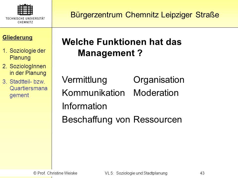 Gliederung Welche Funktionen hat das Management