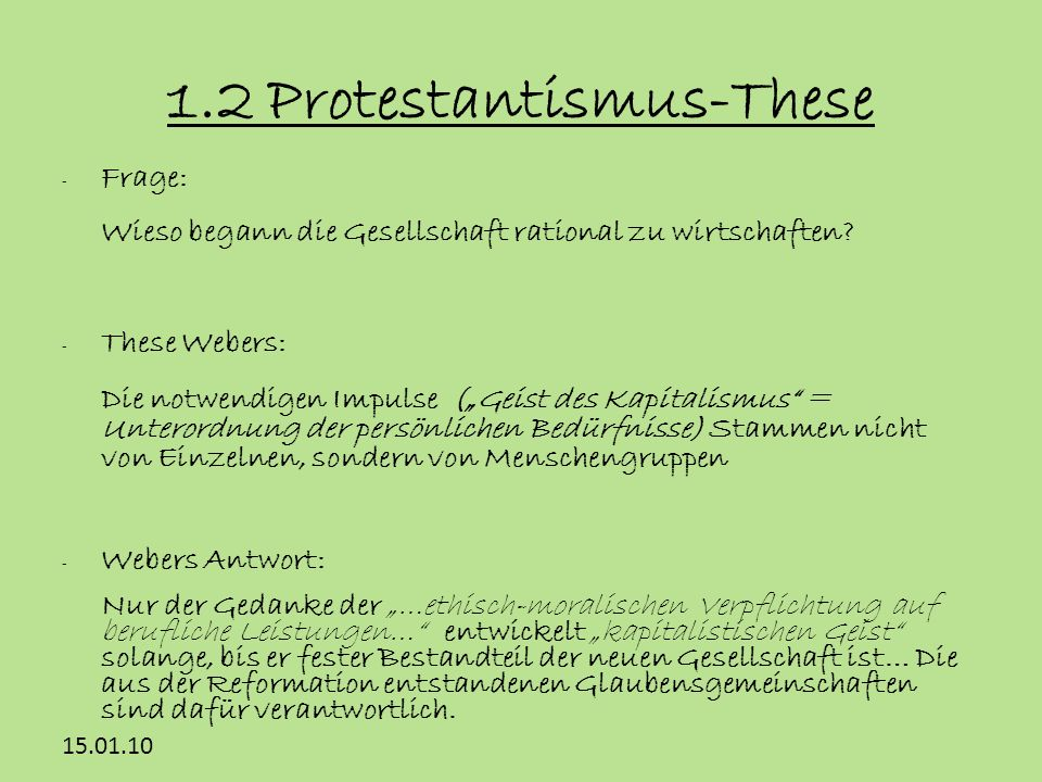 1.2 Protestantismus-These