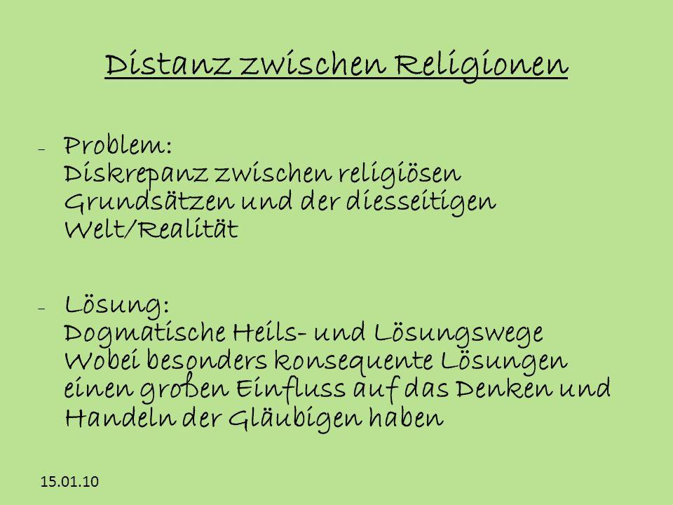 Distanz zwischen Religionen