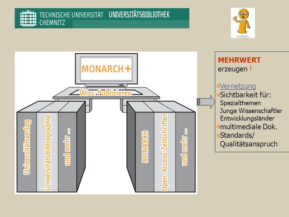 MEHRWERT erzeugen ! Vernetzung Sichtbarkeit für: Standards/