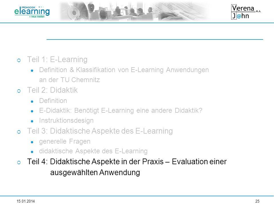Teil 3: Didaktische Aspekte des E-Learning