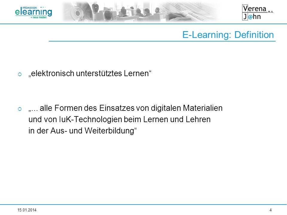 E-Learning: Definition