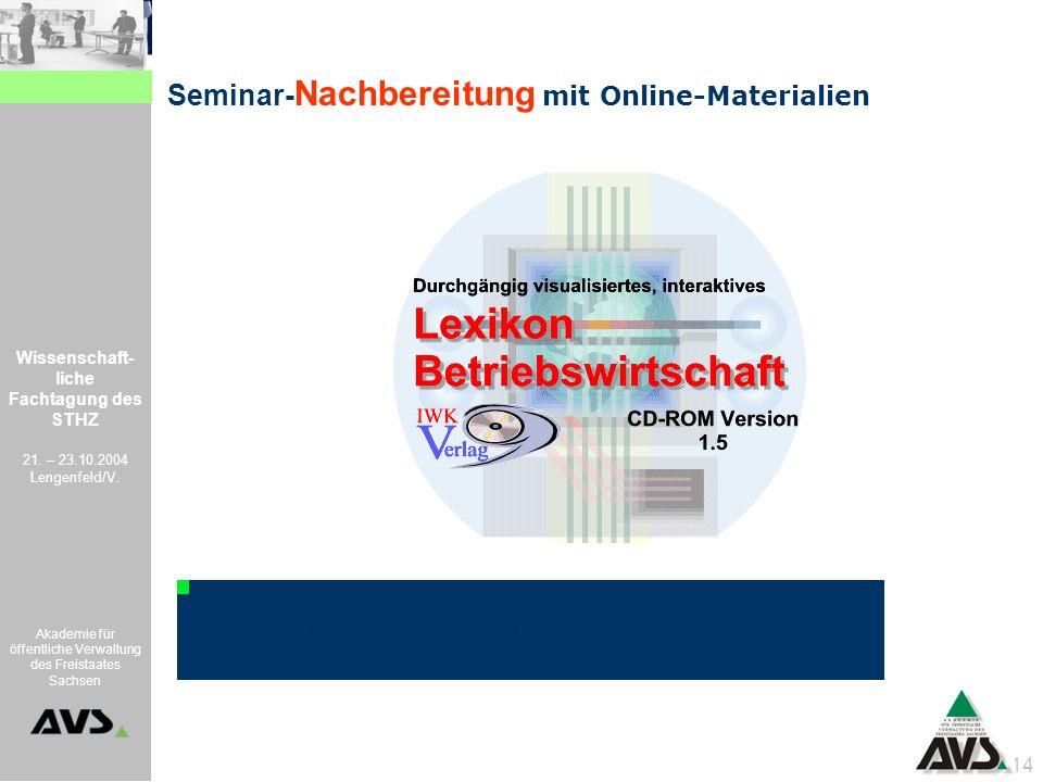 Seminar-Nachbereitung mit Online-Materialien