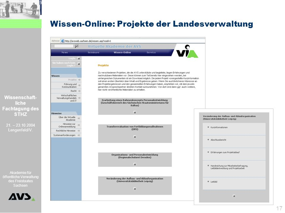 Wissen-Online: Projekte der Landesverwaltung