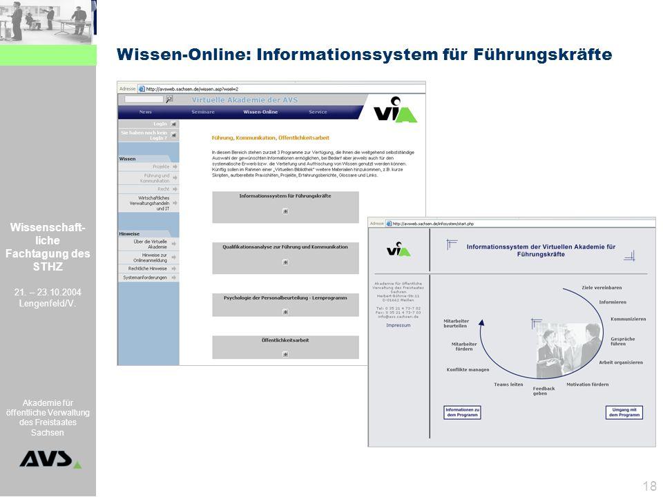 Wissen-Online: Informationssystem für Führungskräfte
