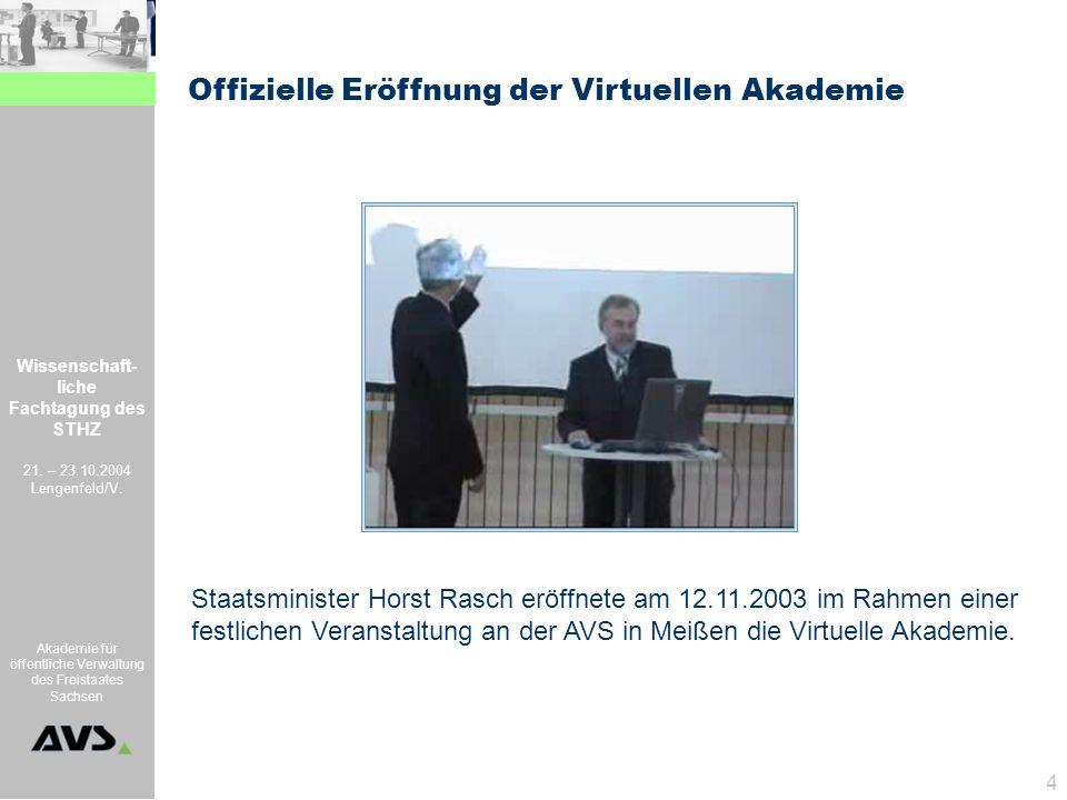 Offizielle Eröffnung der Virtuellen Akademie