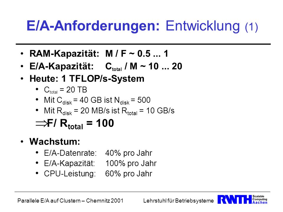 E/A-Anforderungen: Entwicklung (1)